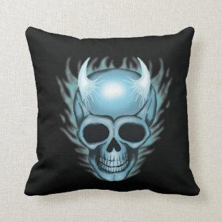 Cráneo de la llama azul cojines