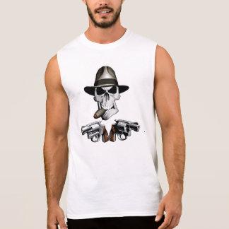 Cráneo de la mafia del gángster camisetas sin mangas