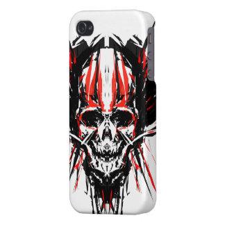 Cráneo de la metralla del vector iPhone 4 funda