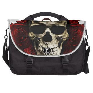 Cráneo de la muerte bolsas para ordenador