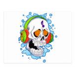 Cráneo de la música tarjeta postal