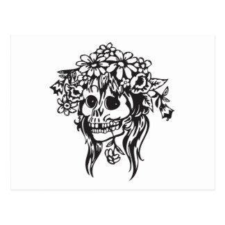Cráneo de la novia tarjetas postales