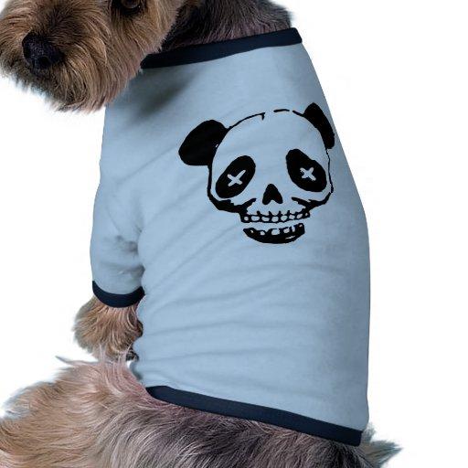 Cráneo de la panda ropa para mascota
