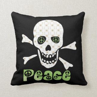 Cráneo de la paz de la flor almohada