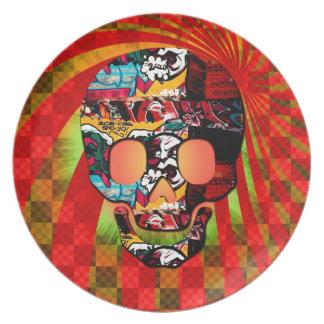 cráneo de la pintada platos