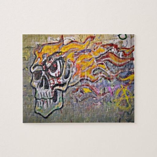 Cráneo de la pintada rompecabeza
