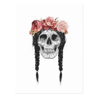 Cráneo de la primavera postales