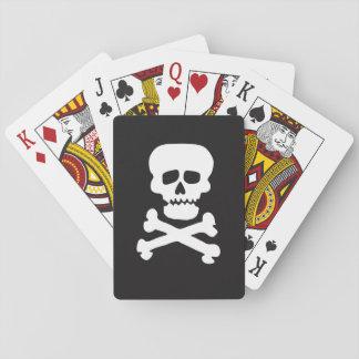 Cráneo de la roca barajas de cartas