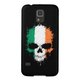 Cráneo de la salpicadura del goteo de Irlanda Carcasas Para Galaxy S5