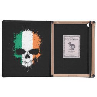 Cráneo de la salpicadura del goteo de Irlanda iPad Carcasa