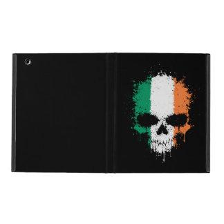 Cráneo de la salpicadura del goteo de Irlanda iPad Coberturas