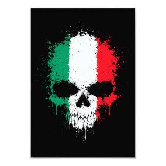 """Cráneo de la salpicadura del goteo de Italia Invitación 3.5"""" X 5"""""""