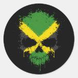 Cráneo de la salpicadura del goteo de Jamaica