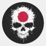 Cráneo de la salpicadura del goteo de Japón Etiqueta Redonda