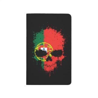 Cráneo de la salpicadura del goteo de Portugal Cuadernos Grapados