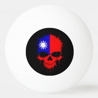 Cráneo de la salpicadura del goteo de Taiwán Pelota De Tenis De Mesa