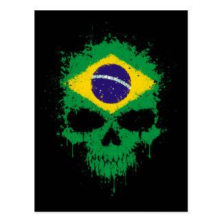 Cráneo de la salpicadura del goteo del Brasil