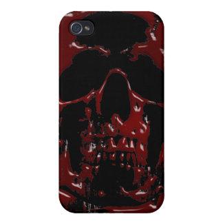 Cráneo de la sangre iPhone 4 carcasas