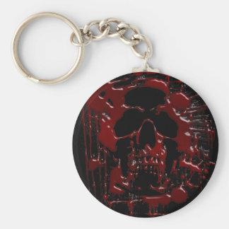 Cráneo de la sangre llavero redondo tipo pin