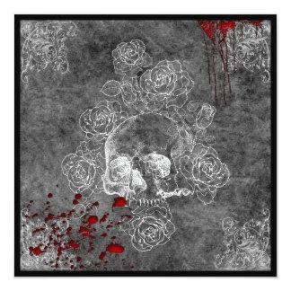 Cráneo de la sangre y boda del gótico del horror invitaciones personales