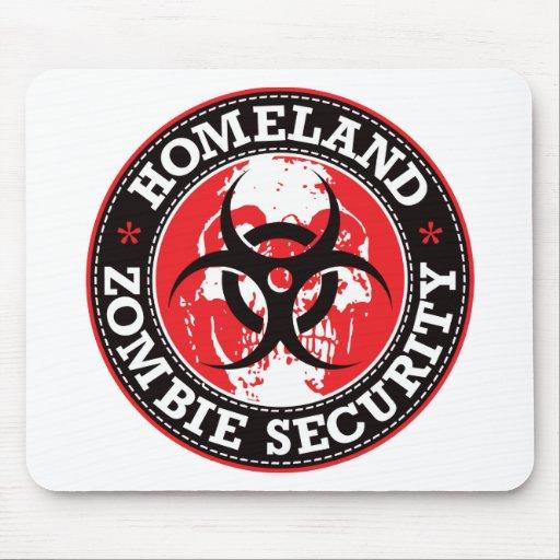 Cráneo de la seguridad del zombi de la patria - ro alfombrillas de ratón