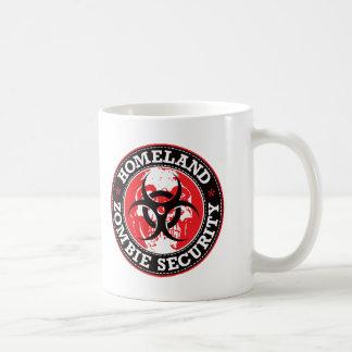 Cráneo de la seguridad del zombi de la patria - ro tazas de café