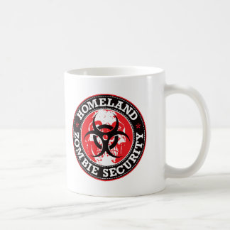 Cráneo de la seguridad del zombi de la patria - taza de café