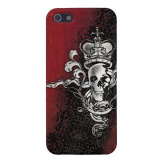 Cráneo de la serpiente de la corona iPhone 5 fundas