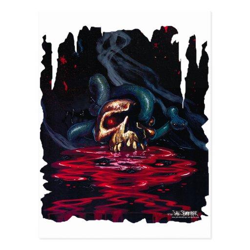 cráneo de la serpiente n tarjeta postal