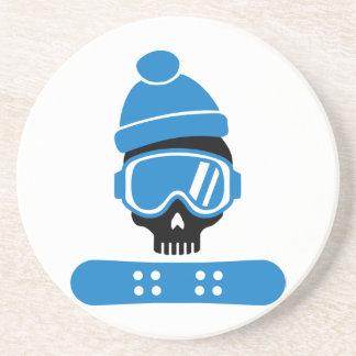 Cráneo de la snowboard posavasos manualidades