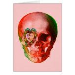 Cráneo de la tarjeta del día de San Valentín