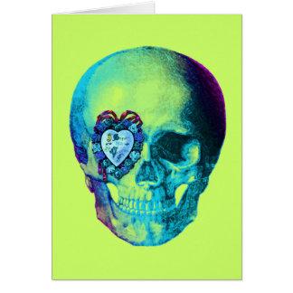 Cráneo de la tarjeta del día de San Valentín de la