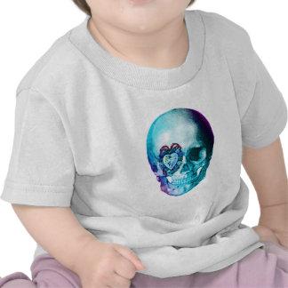 Cráneo de la tarjeta del día de San Valentín de la Camiseta