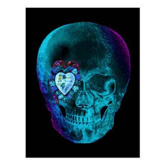 Cráneo de la tarjeta del día de San Valentín de la Postales