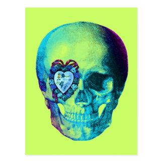 Cráneo de la tarjeta del día de San Valentín de la Tarjeta Postal
