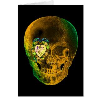 Cráneo de la tarjeta del día de San Valentín del o