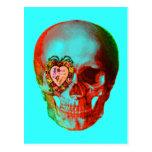 Cráneo de la tarjeta del día de San Valentín Tarjetas Postales