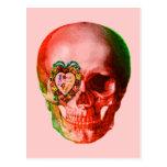 Cráneo de la tarjeta del día de San Valentín Tarjeta Postal