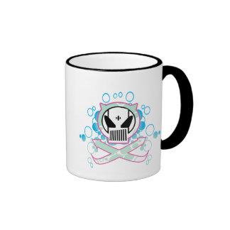 Cráneo de la tecnología de la pintada tazas de café
