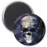 Cráneo de la tierra imán para frigorifico
