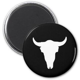 Cráneo de la vaca imán redondo 5 cm