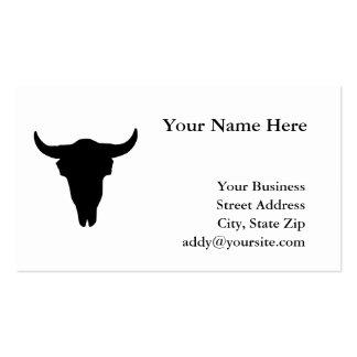 Cráneo de la vaca tarjetas de visita