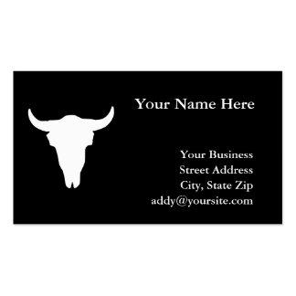 Cráneo de la vaca tarjetas personales