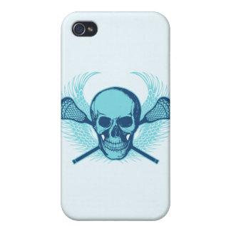 Cráneo de LaCrosse - azul iPhone 4 Cobertura