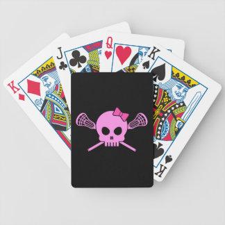 Cráneo de LaCrosse del chica Baraja Cartas De Poker