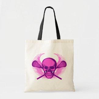 Cráneo de LaCrosse - púrpura Bolsa De Mano