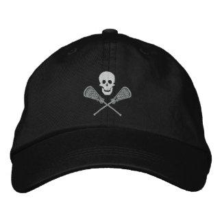 Cráneo de LaCrosse y casquillo bordado palillos de Gorras De Béisbol Bordadas
