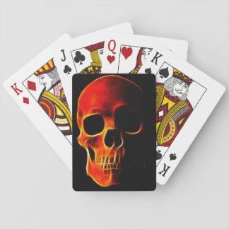 Cráneo de llamas baraja de cartas