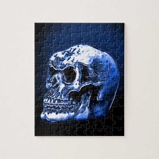 Cráneo de los azules claros rompecabeza