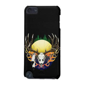 Cráneo de los ciervos en llamas funda para iPod touch 5G